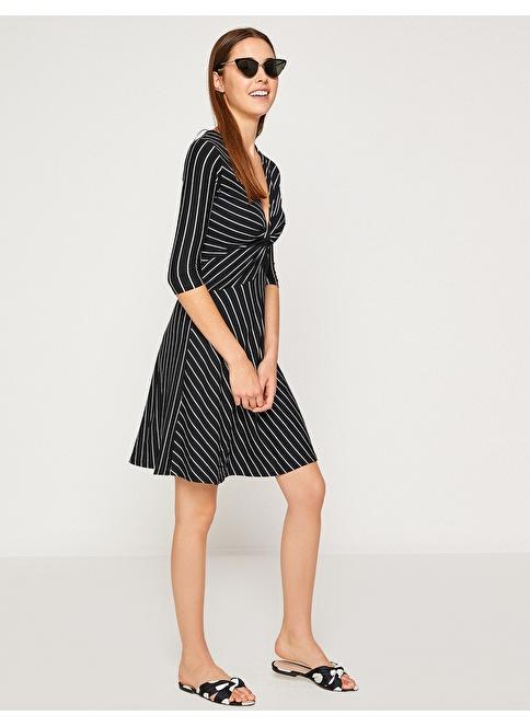 f6a6fc9fb00fb Koton Kadın Çizgili Kısa Elbise Siyah Çizgili   Morhipo   21314946